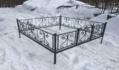 Ограда на могилу (капля) 003