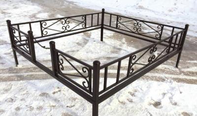 Ограда на могилу (новая) 004