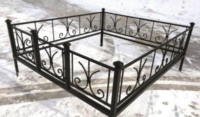 Ограда на могилу (лилия) 005