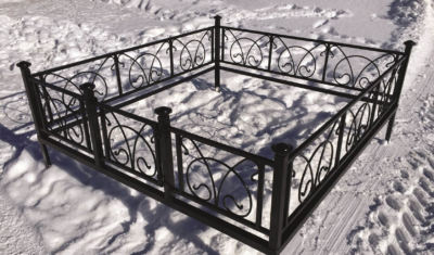 Ограда на могилу (овен) 006