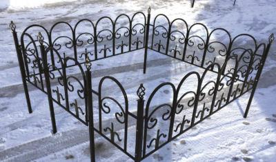 Ограда на могилу (арка) 008