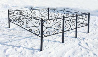 Ограда на могилу (этюд) 011