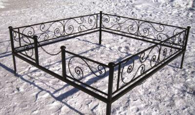 Ограда на могилу (бриз) 002
