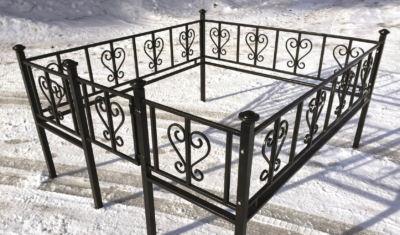 Ограда на могилу (лира) 015