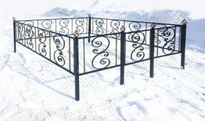 Ограда на могилу (вензель) 017