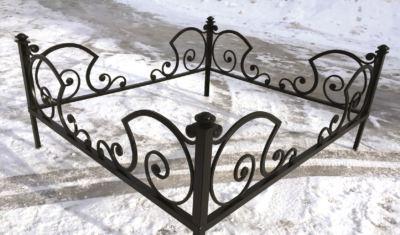 Ограда на могилу (карета) 019
