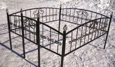 Ограда на могилу (грань) 020