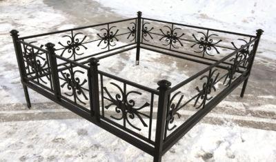 Ограда на могилу (снежинка) 022