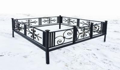 Ограда на могилу (пантеон) 023