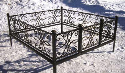 Ограда на могилу (ажур) 025