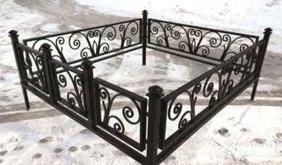 Ограда на могилу (лоза) 027
